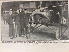 f1a ephemera 1919 picture lieut roland garros villacoublay last picture