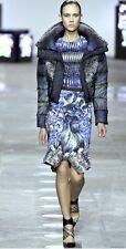 Peter Pilotto Blue Runway Fishtail Mermaid Hem Skirt Size US 6 / UK 10 / IT 42