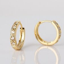 White sapphire nice 14K gold filled attractive design woman Huggie earring