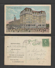 1922 THE BREAKERS + ADVERTISEMENT ON REVERSE ATLANTIC CITY NJ POSTCARD