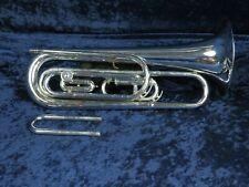 Titleist by Getzen Silver 2 Valve G Baritone Bugle Ser#F19439 Extra Tuning Slide