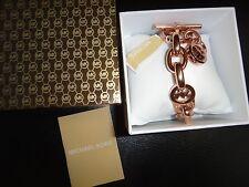 MICHAEL KORS Women's Rose Gold Toggle Chain Bracelet~Padlock MKJ2752791 +MK BOX