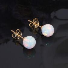 White Fire Opal 925 Sterling Silver Yellow Gold Women Jewelry Earrings Oh3923