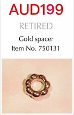 GENUINE PANDORA 14K GOLD BUBBLE SPACER CHARM, 750131