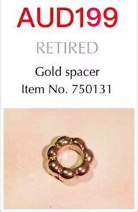 GENUINE PANDORA 14K GOLD BUBBLE SPACER CHARM, 750131