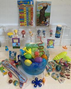 50PC Sonic the Hedgehog Easter Basket Action FigurEggs Bubbles Toys Favors Candy