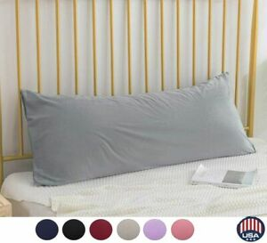 """US Soft Body Pillow Cover 20 x 55"""" Long Bedding Zipper Pillowcase Cover Washable"""