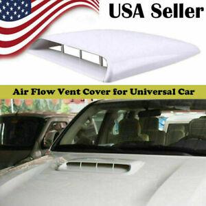 White Car Decorative Air Flow Intake Hood Scoop Sticker Bonnet Cover Universal