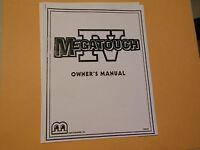 MERIT IV TOUCHSCREEN   arcade  game manual