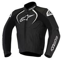 Alpinestars Jaws Leather Motorcycle Motorbike Jacket Black RRP £439.99