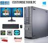 Dell Gaming & Dual Screen  i5 / i7 Desktop/Tower PC Win 10 ,16 GB,GT-1050 TI 4GB