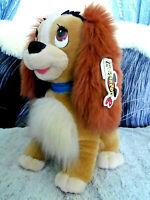"Vintage 1994 Lady and Tramp Disney Mouseketoys plush stuffed Lad Dog w/tags 15"""