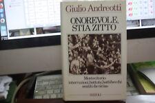 ANDREOTTI GIULIO ONOREVOLE, STIA ZITTO A RIZZOLI, 1987