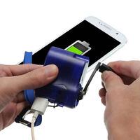 USB Portable Hand Crank Emergency Dynamo Charger Generator Cell phone Help SOS