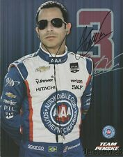 2014 Helio Castroneves signed Southern California AAA Indy Car postcard