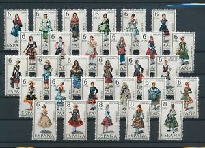 LN18641 Spain traditional clothing folklore fine lot MNH