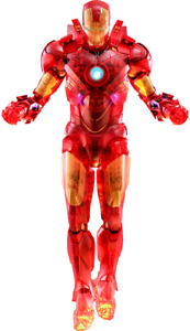 Marvel Iron Man Mark IV Holographic Hot Toys Sideshow Toy Fair Exclusive MMS568
