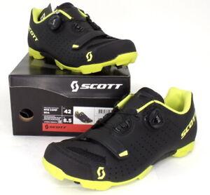 Scott MTB Comp Boa Mountain Bike Shoes Black/Yellow Men's Size 8.5 US / 42 EU