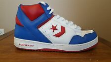 CONVERSE WEAPON WHITE/RED/BLUE BASKETBALL SHOES SIZE 12