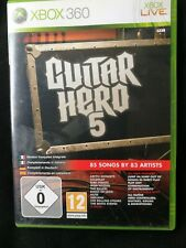 XBOX 360 GUITAR HERO 5  GAMES