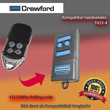 Handsender Garagentorantriebe 433,92 MHz CRAWFORD T433-4 Funksender