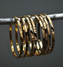 8x Indian gold plated fashion Bangle Bracelet SZ  2/6