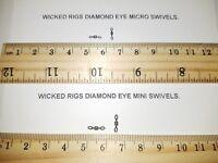 100 Packs of Size 10 & Size 12 Micro Diamond Eye Rolling Swivels + Free Gift.