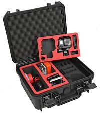 Waterproof Hard Case Plastic case with custom foam for Gopro Hero5 hero 5 and 4