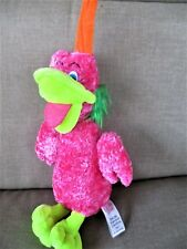 "Sugar Loaf Pink Fantasty Look Bird Pink Plush Stuffed 10"" Tall"