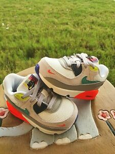 "Nike Air Max 90 EOI ""Pearl Grey"" BRAND NEW Toddler 5C"
