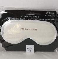 New White Sleeping Mask ~ Yes I'm Sleeping ~ USA Seller