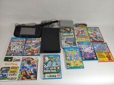 Nintendo Wii U 32GB Black Console + 11 Games Bundle - All Tested!