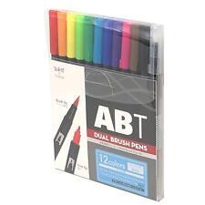 Tombow ABT Dual Brush Pen Art Markers 12 Pack Basic AB-T12CBA Genuine