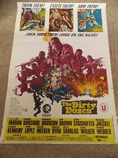 THE DIRTY DOZEN(1967)LEE MARVIN ORIGINAL 1 SHEET POSTER FROM INDIA NICE!