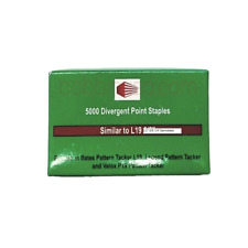"Staples For L19 1/4"" Staplers Tacking Pattern Paper 5000 Per Box"