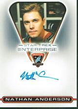 STAR TREK ENTERPRISE SEASON 3 AUTOGRAPH CARD MACO7 NATHAN ANDERSON AS KEMPER