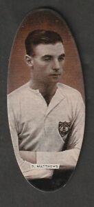 CARRERAS tobacco Football Stanley Matthews STOKE CITY  ENGLAND 1935 issue