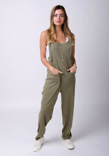 Jersey Jumpsuit - Khaki Cotton All-in-one Playsuit