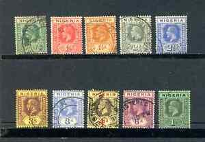 1914 Nigeria - part set - Used - CAT £30+  ( Lot 1805  )