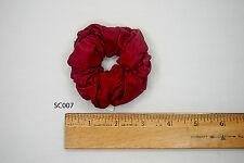 Silk Hair Scrunchies Ponytail Holder Elastic Ties Hair Band Red Burgundy SC007