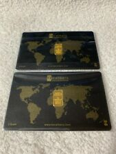 (2) 1 GRAM KARATBARS, 999.9 FINE GOLD