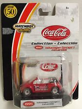MATCHBOX COLLECTIBLES VOLKSWAGEN CONCEPT 1 CONVERTIBLE COCA COLA SERIES!  LOOK