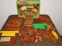 VINTAGE TOY GAME PAUL BUNYAN ALL WOOD  LOG BUILDERS CONSTRUCTION SET