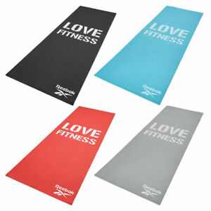 Reebok Love Fitness Exercise Mat Non Slip Large Thick Gym Training Yoga Workout