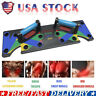 NEW 9 in 1 Push Up Rack Board System Fitness Workout Train Gym Exercise Stands A