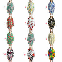 Flowers Lightweight Spa Kimono Bathrobe for Women Mens Soft Bathrobes Clothing