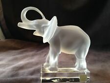 "Vintage LALIQUE Crystal Elephant Figurine (signed), 6"" high #11801 EXQUISITE"