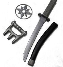 3-tlg. Ninja Set: Schwert mit Scheide Wurfstern Kralle Fasching Kostüm 125756913