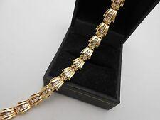 """Heavy Gorgeous 14k Solid Gold 1+ Carat Baguette Cut Diamond Tennis Bracelet 6.5"""""""