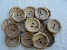 10 NATURAL WOODEN RIDGE STYLE BUTTONS SIZE 36 (22MM) FREE P&P UK